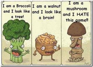 Broccoli, walnut, mushroom